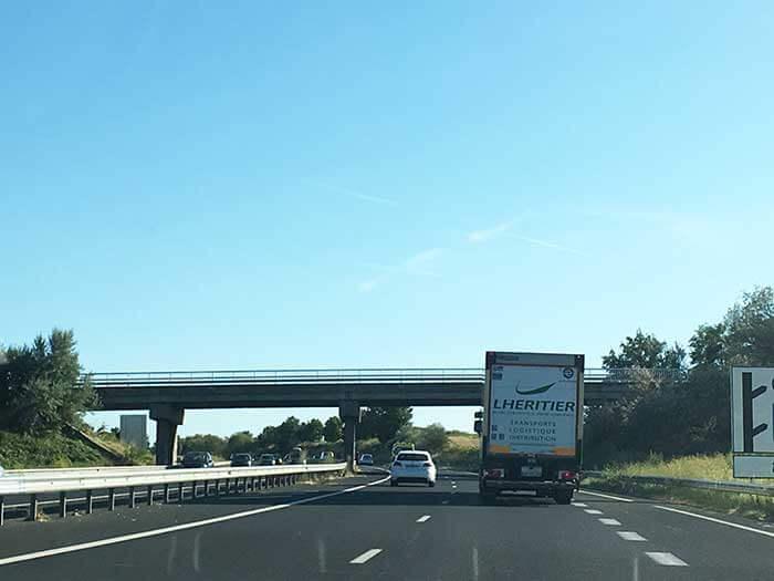 オーヴェルニュ地方の高速道路