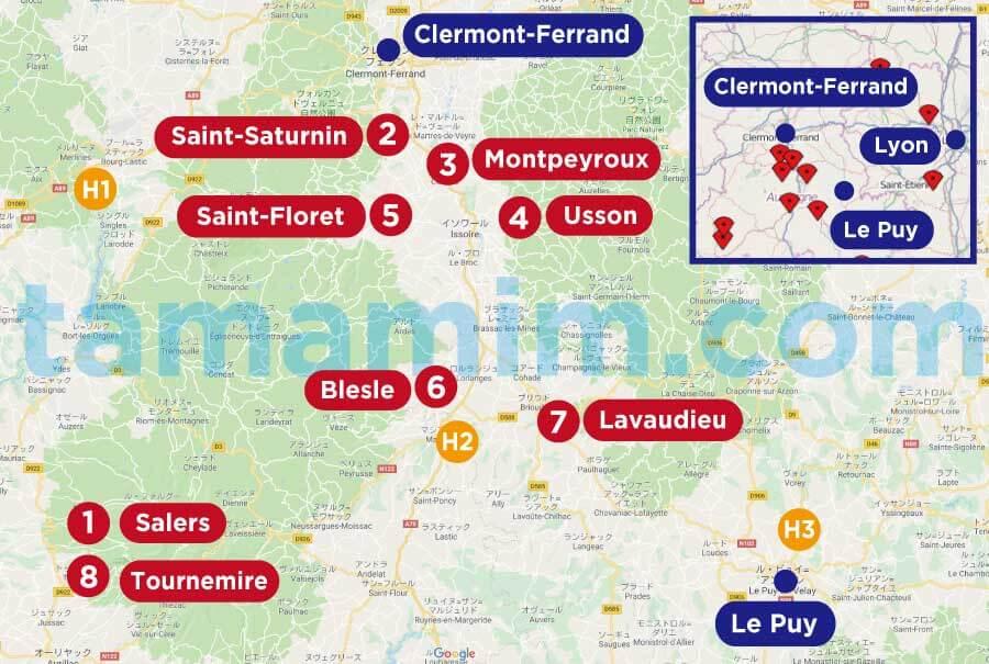 フランス南東部の美しい村巡りルート