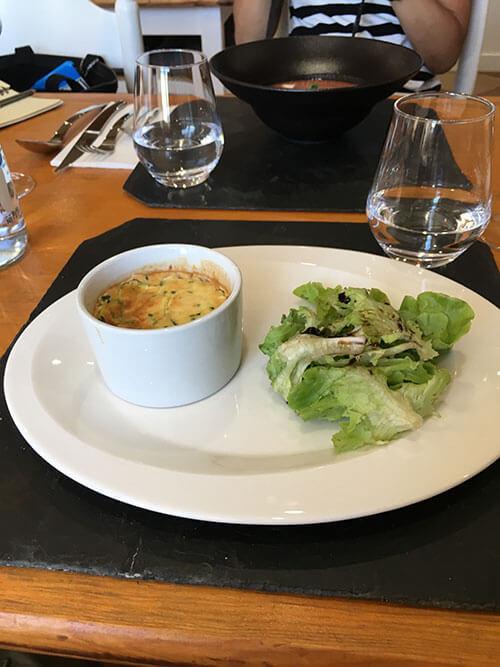 L'auberge de Vazeratの夕食