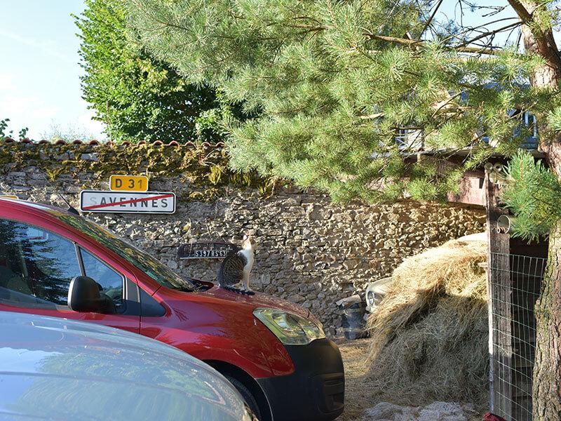 Chateau de Savennes駐車場