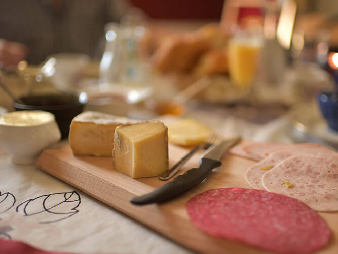 Chateau de Savennesの朝食