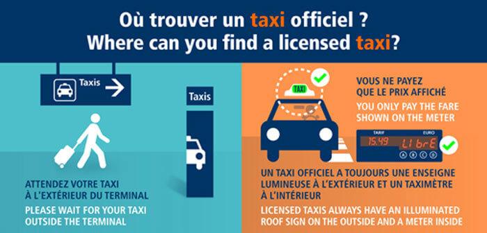 シャルルドゴール空港で公認タクシーの見分け方