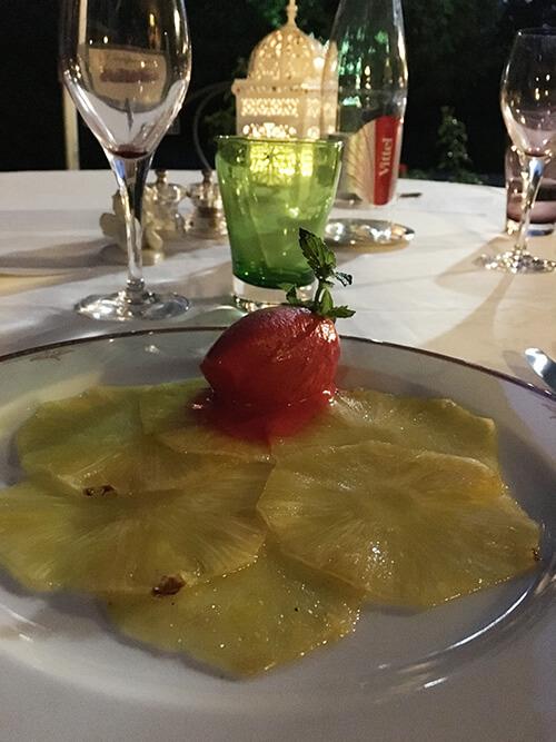 オーベルジュ La Métairieでの食事【デザートのシャーベット】