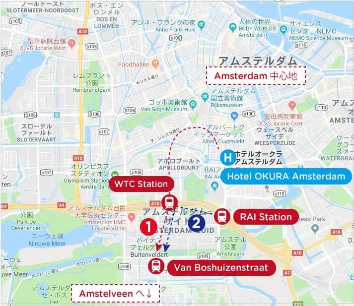 アムステルダム市内地図