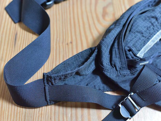 ポーターのウエストバッグの隠しポケット
