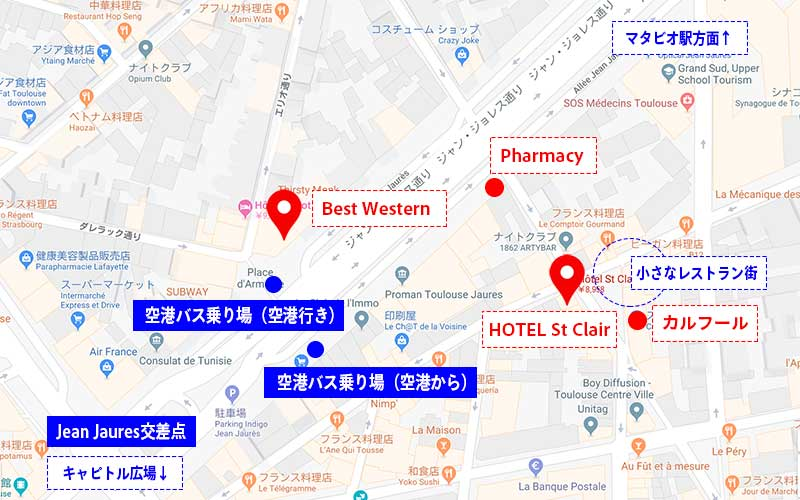 Hotel St Clair (Toulouse)の場所