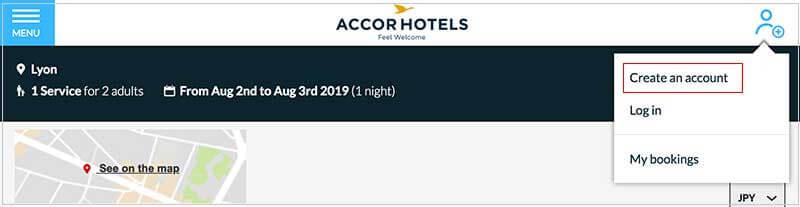 アコーホテルズ登録