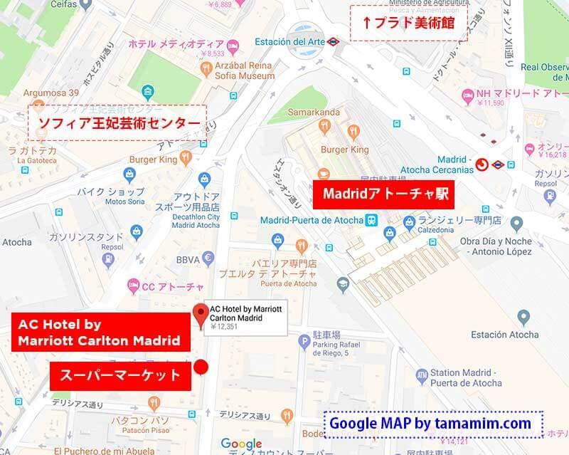アトーチャ駅周辺の地図