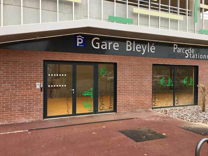 コルマール駅にあるレンタル自転車