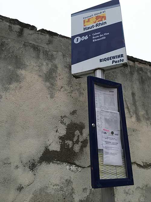 リクヴィル106番バス停