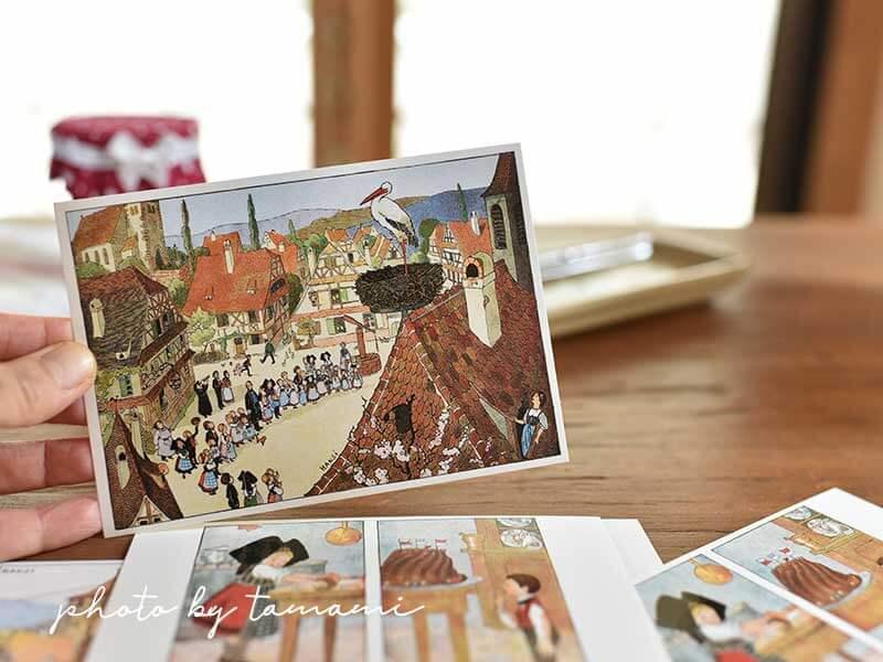 アルザス地方のお土産 Hansiのポストカード