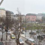 Strasbourg Mercureホテルの窓から見た風景