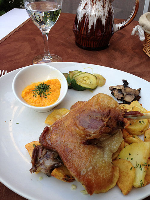 L'auberge du vieux Cahorsの鴨のコンフィ