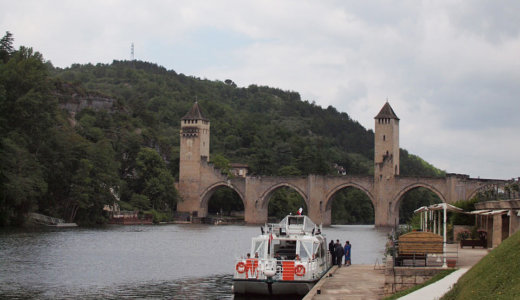 カオール(Cahors)の遊覧船