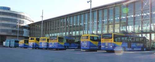 マルセイユのバスターミナル