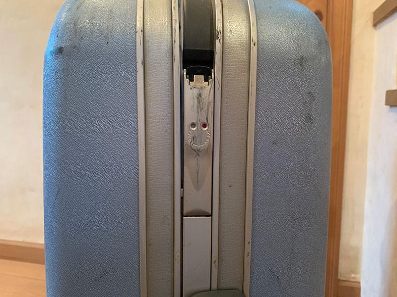 スーツケースの比較ロック部分