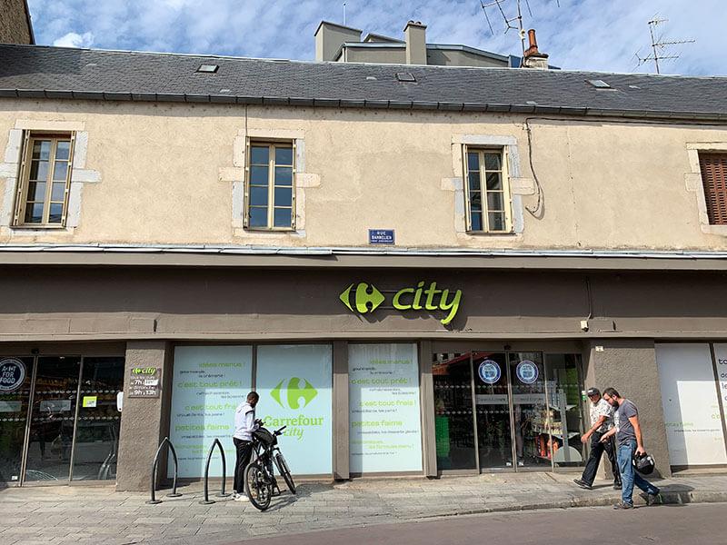 DijonのカルフールCity