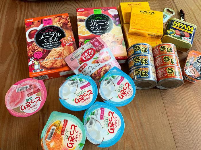 台風時の停電対策の非常食