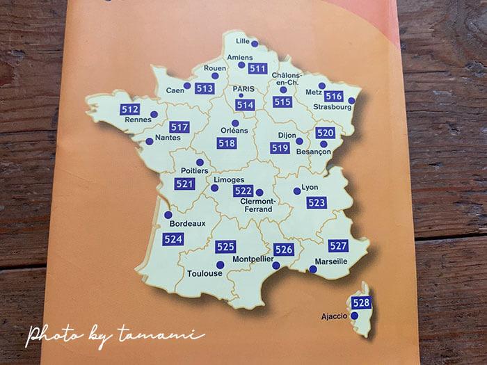 ミシュランの地図