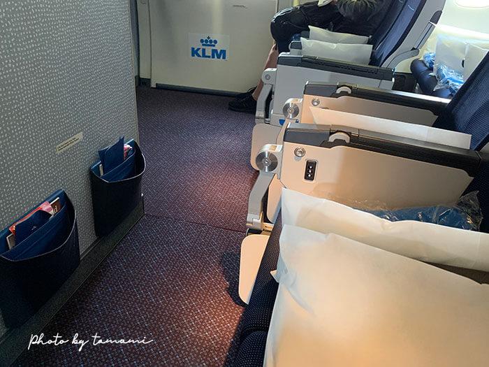KLMオランダ航空機内