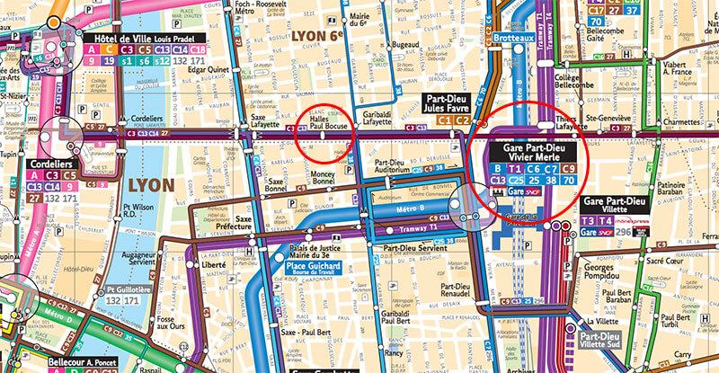 リヨン市内ポール・ボギューズ市場への行き方