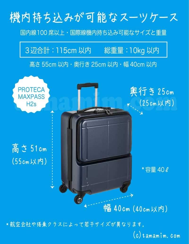 機内持ち込みスーツケース比較