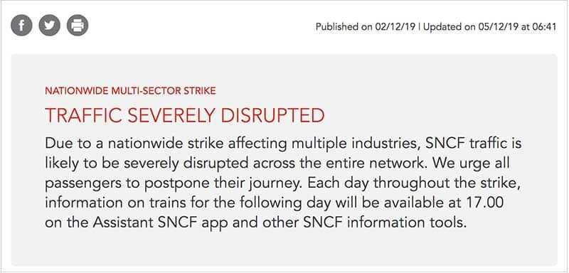 フランスでストライキが起きたらやること