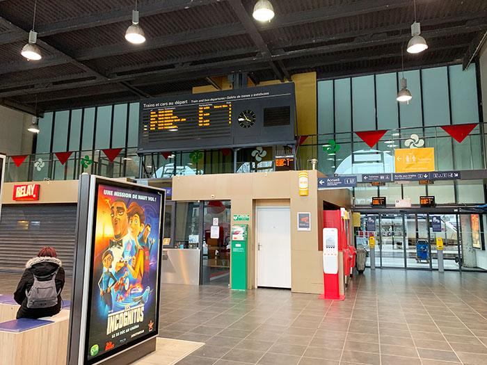 バイヨンヌのSNCF駅