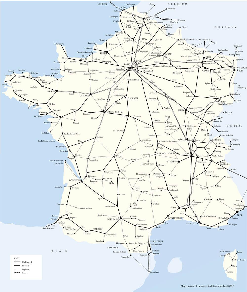 フランス鉄道MAP