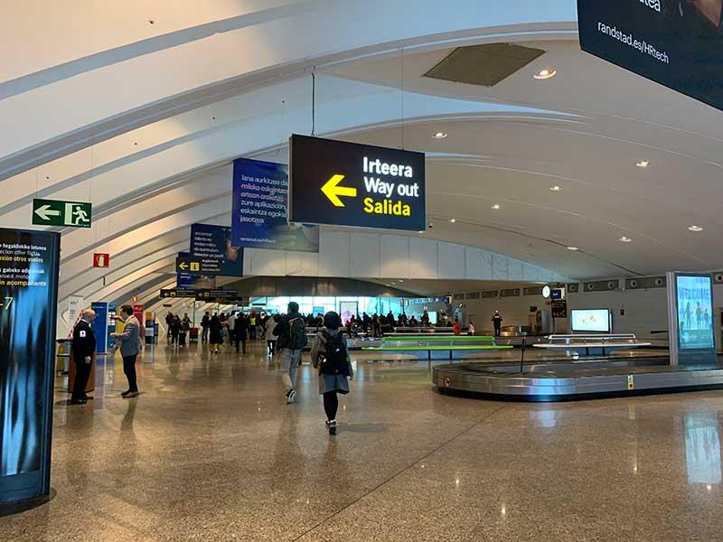 ビルバオ空港からサン・セバスチャンへの移動