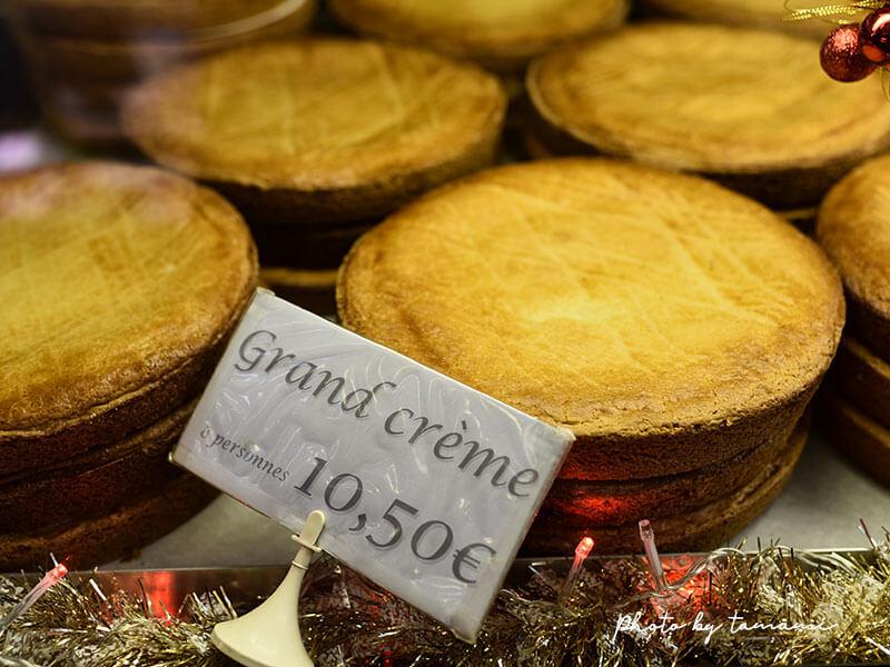 ビアリッツ市場で売られているガトー・バスク