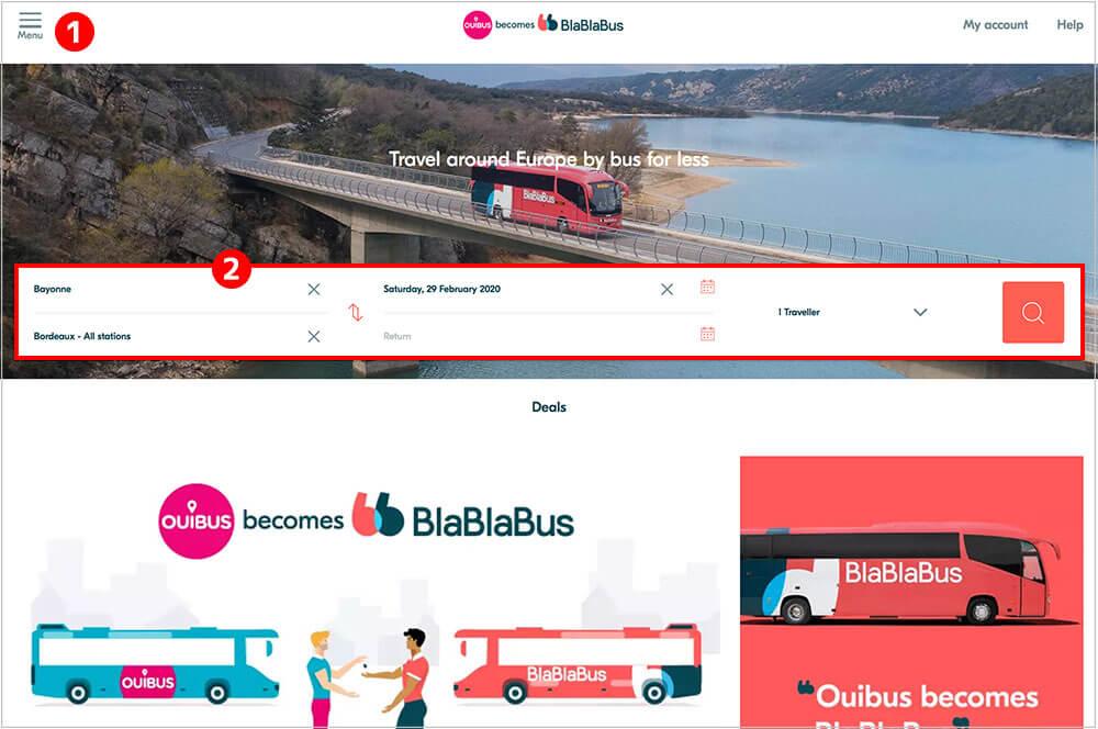 Bla Bla Busの予約方法