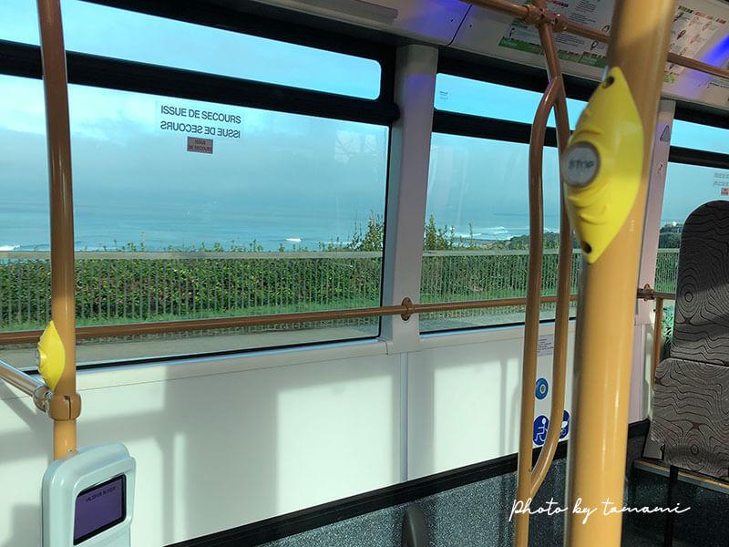 ビアリッツ市内とバイヨンヌを移動する38番バス