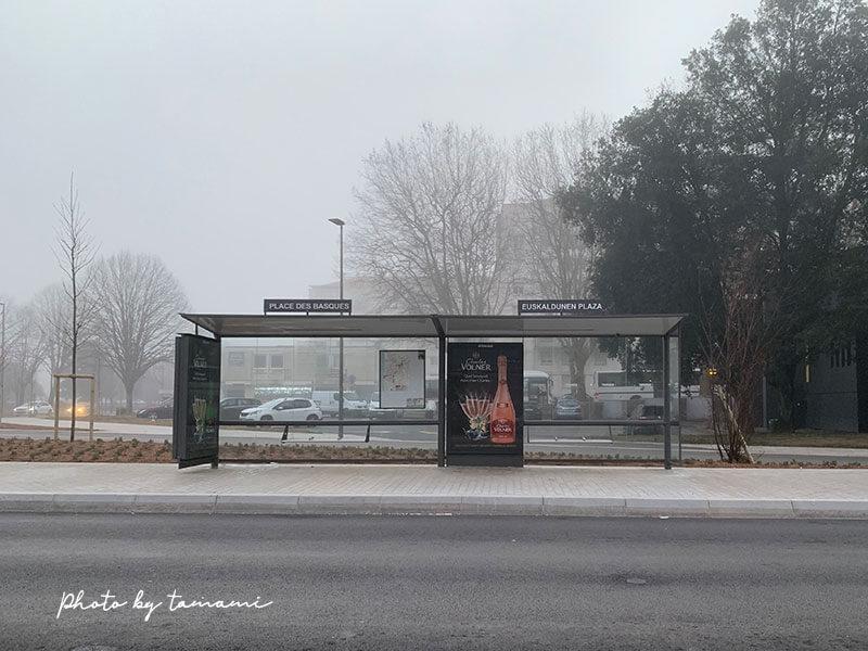 バイヨンヌのバス停留所