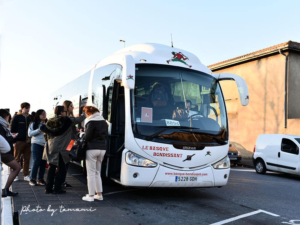サンセバスチャンからフランスバスクへバスで移動