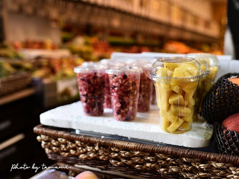 サン・セバスチャンのスーパーにあるドライフルーツ