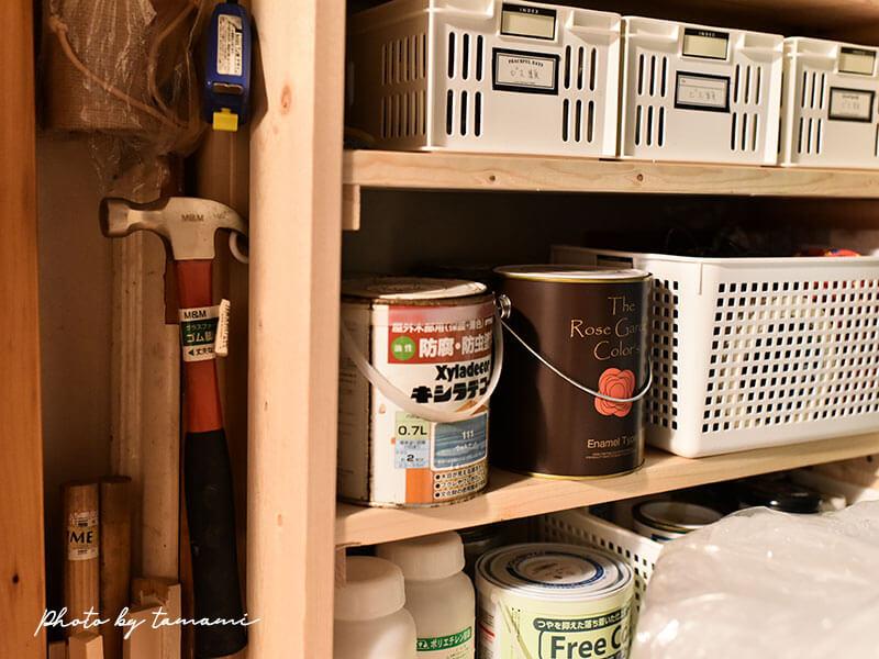 クローゼット内に収納棚を作る