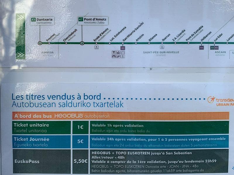 バスク地方の美しい村アイノアへの行き方