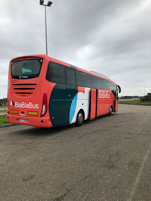バイヨンヌからボルドーまで格安バス(Bla Bla Bus)での移動 / バス乗り場