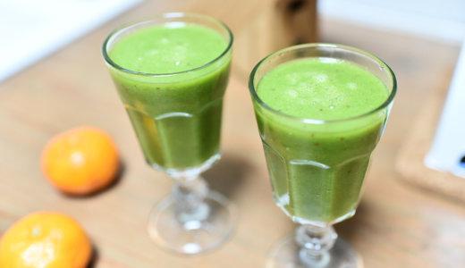 風邪の予防&免疫力アップ!5分でできるスムージーレシピ【ビタミンたっぷり緑のスムージー】