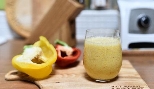 美肌効果に!5分でできる夏に飲みたいスムージーレシピ【パプリカとパイナップルスムージー】