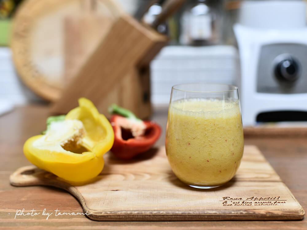 パプリカとパイナップルのスムージーの作り方/ レシピ