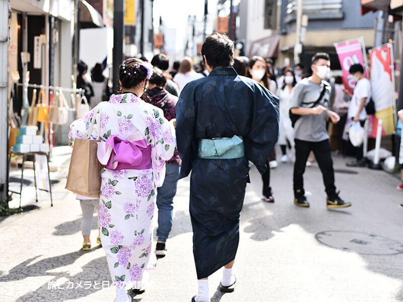 鎌倉観光を浴衣で