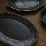 益子焼のアンティークふう洋皿