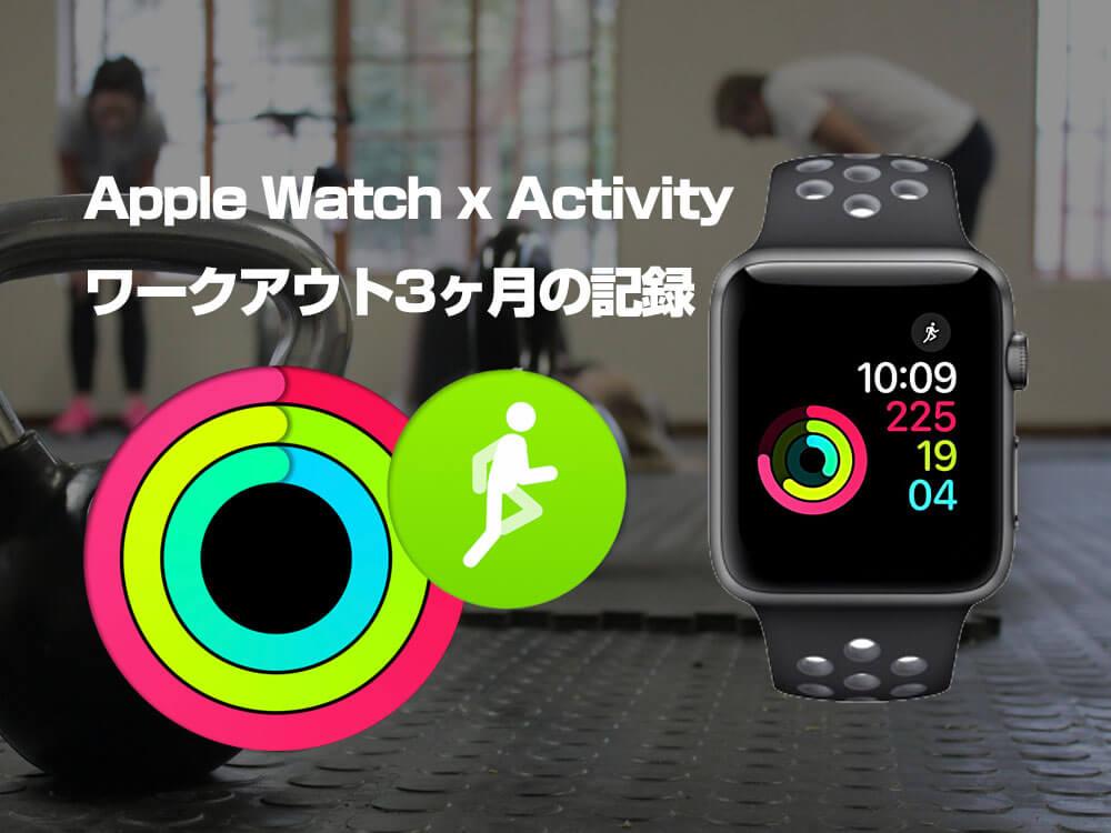 Apple watchを使ったダイエット記録3ヶ月
