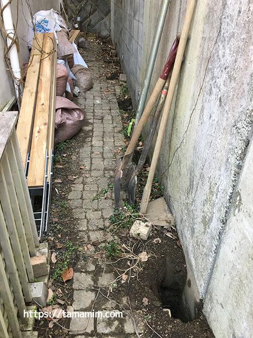 庭のフェンスをDIYで(プロの仕事)
